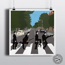 Abbey Road & Silly passeggiate minimalista POSTER posteritty stile MONTY PYTHON Parodia