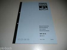 Betriebsanleitung Bedienung Steinbock BOSS Gabelstapler Forklift WP 20 D 6/1994