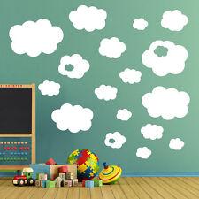 NUVOLE Adesivi Murali Cameretta bambini decalcomania Art Bambini Stanza Giochi Camera Rimovibile A29
