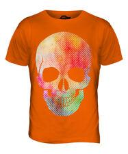 Aquarell Skull Herren T-Shirt Tee Top giftpainting Farbe