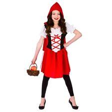 Little Red Riding Hood Girls Halloween Fairy Tale Storybook Fancy Dress Costume