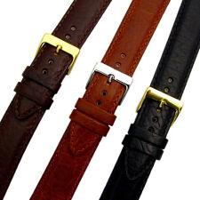 VERONA XL Extra Lungo Imbottito Cinturino in pelle Band 3 Colori Taglie 16mm - 24mm