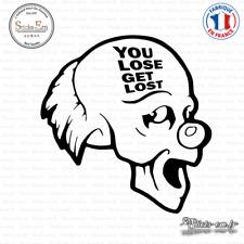 Sticker JDM Lost get lost Clown Decal Aufkleber D-256 - Couleurs au choix