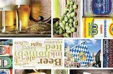 Wachstuch Tischdecke Meterware Bier Beer Biergarten eckig rund oval C147310