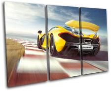 McLaren P1 Cars TREBLE DOEK WALL ART foto afdrukken