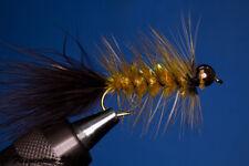 Fliegentom Streamer 3 pieces Wooleybugger with Beadhead Amber Krystal