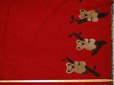 Vliesstoff (€26/m²) 0,5m Kinderstoff applizierte Koalas Bären Fleece 1,5m breit
