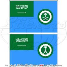 "SAUDI ARABIA AirForce Ensign Flag Vinyl Bumper Stickers-Decals 100mm(4"") x2"