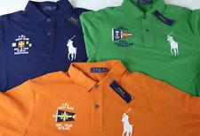 Polo Ralph Lauren SS Big Pony Nautical Flag Yacht Club Mesh Polo Shirt $125 NWT