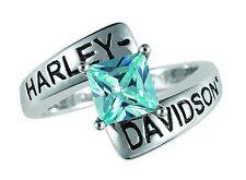 Harley Davidson Blue Zircon Ring -  by The Franklin Mint