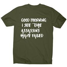 Neues Angebot Guten Morgen sehe ich die witzig Schlaf T-Shirt Herren