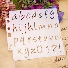Lettering Stencil Alphabet Cake Stencils Painting Paper Craft Number Art UK