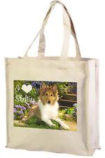 Shetland Sheepdog Shopping Bag, Sheltie - Choice of Colours: Black, Cream