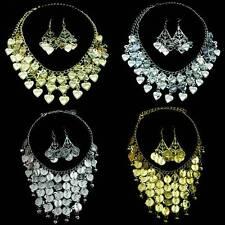 Bollywood Bauchtanz Belly Dance Schmuckset Kette + 1 Paar Ohrringe Münzen