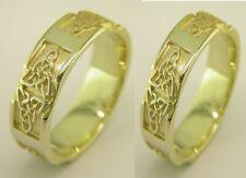 Wedding Band Ring Set Symbolises Everlasting Irish 10k Gold Celtic Trinity Knot