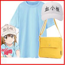 Hataraku Saibou Costume Cells At Work Blood Platelet PLT Cosplay Shirt Cap Bag