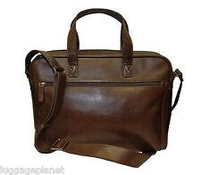 iLi Leather Top Zip Slim Laptop Brief Bag  3215