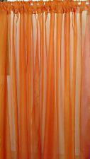 "Orange wedding decoration drapes sheer 6 to 12 ft x 114"". Moroccan, Bollywood."