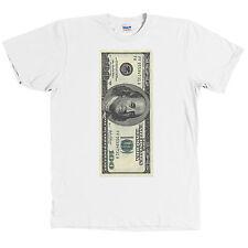 One Hundred Dollar Bill USD T Shirt 100 Benjamin Franklin Money Tee NWT