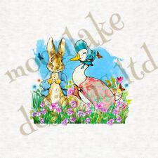 Peter Rabbit And Jemima / Fabric Cushion / Craft / Quilting / Panel