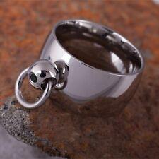 The Story of o anello in acciaio inossidabile con Anello dell'O SM slave Master BDSM DOM sub black