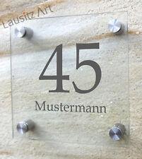 Hausnummer Türschild Namensschild Büroschild Hausschild Acryl Zimmernummer Raum