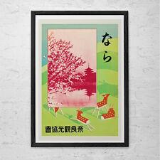 Nara JAPAN TRAVEL POSTER - Vintage Japanese Travel Print - Professional Reproduc