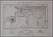 Antica MappaTopografica=PORTO DI BRINDISI NEL 1871=1887