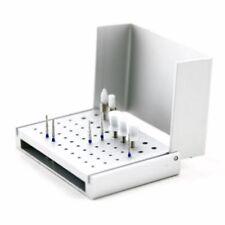 58 Holes Aluminium Dental Bur Box Burrs Holder Block Case Disinfection Stand