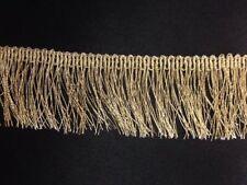 Matt GOLD Lurex Metallic Fringe Dress Edging Xmas Decor 1.5''-3.25'' craft 1Yard