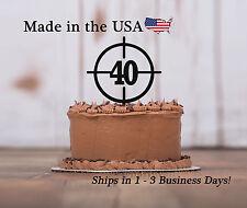 Crosshairs Cake Topper, Any Age, Hunting, Gun Decor, Deer, Birthday, LT1071