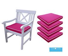 MEMORY Foam Cuscino Da Giardino Sedia Imbottitura del sedile | QTY di 1,2,3,4,5,6 | 50x45 | fucsia