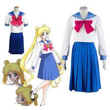 Sailor Moon Short Long Sleeves School Uniform Dress Cosplay Costume Customized