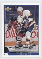 1993-94 Upper Deck #130 Jeff Brown St. Louis Blues Hockey Card