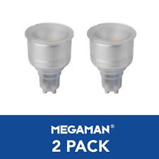 2 x Megaman LED Long Neck Reflector Light Bulbs GU10 PAR16 5 Watt 4000K 2700K