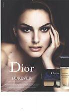 PUBLICITE 2012   DIOR cosmétiques maquillage par Nathalie Portman