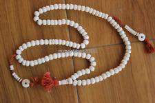 ML170 Handmade Nepalese Tibetan 108 Yak Bone Prayer Beads Mala Beaded Necklace