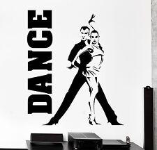 Wall Sticker Dance Dancing Man And Woman Vinyl Decal (z3018)