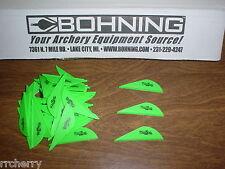 """36 Bohning 2"""" BLAZER Arrow Arrows VANES Archery NEON GREEN"""