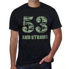 53 And Strong Homme T-shirt Noir Cadeau D'anniversaire