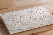 Realza Blanco Floral Invitaciones De Boda Tarjetas ELEGANTE