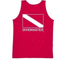 DIVEMASTER Scuba Diver Tank Shirt - Unisex - Red