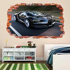 Bugatti Sports Super Racing Car Wall Art Stickers Mural Decal Kids Bedroom DK9