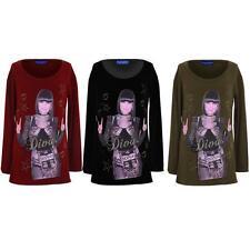 Girls Celeb Diva Jessie J Glitter Print Long Sleeve Children's Long T-shirt Top