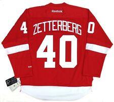 "HENRIK ZETTERBERG DETROIT RED WINGS REEBOK HOME JERSEY W/ CAPTAINS ""C"""