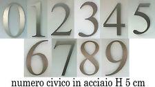 NUMERO CIVICO IN ACCIAIO - h 5 cm