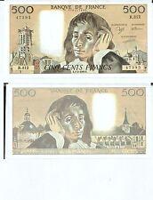 Gertbrolen 500 FRANCS PASCAL du 1-2-1990    R. 312 Billet Numéro  779147395