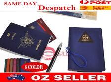 New Unisex Men Women Faux Leather Mini Passport Holder Travel Wallet 6 Color