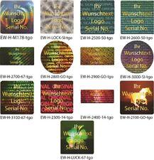 Hologramm-Aufkleber, Siegel Aufkleber, Hologramm, gold-glänzend bedruckt von EW