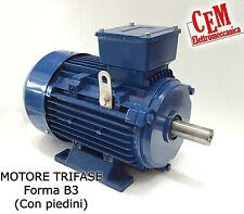 Motore elettrico trifase 400 Volt - B3 piedini 2 4 Poli 1400 o 2800 giri (380 V)